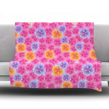 My Pink Garden by Julia Grifol Fleece Blanket
