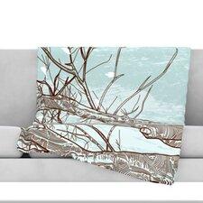 Winter Trees Fleece Throw Blanket