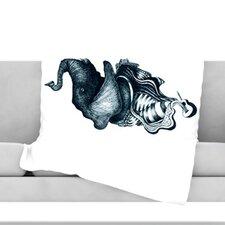 Elephant Guitar Throw Blanket