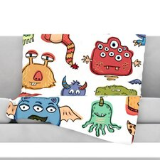 Little Monsters Throw Blanket