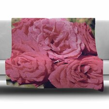 Blush Pink Blooming Roses by Susan Sanders Fleece Blanket