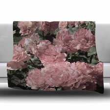 Blush Pink Flowers by Susan Sanders Fleece Blanket