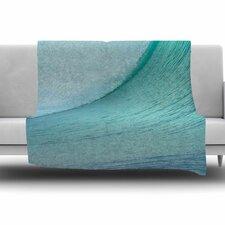 Ocean Blue Wave by Susan Sanders Fleece Blanket