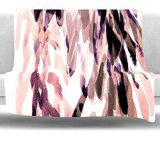 Abstract Leaves II Fleece Throw Blanket