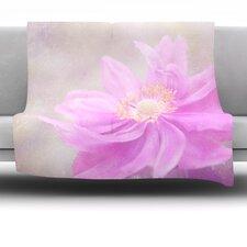 Wind Flower Fleece Throw Blanket