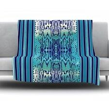 Aqua Snake by Nina May Fleece Throw Blanket