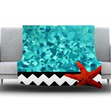 Turquoise Ocean by Oriana Cordero Fleece Throw Blanket