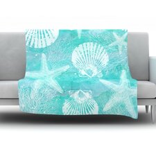 Seaside by Sylvia Cook Fleece Throw Blanket