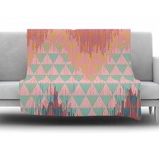 Ikat Geometrie II by Nika Martinez Fleece Throw Blanket