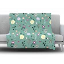 Flora by Louise Fleece Throw Blanket