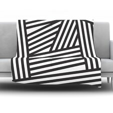 Stripes by Louise Machado Fleece Throw Blanket