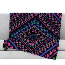 Neon Pattern Fleece Throw Blanket