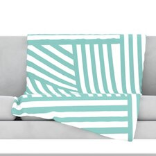 Stripes Fleece Throw Blanket