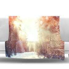 Winter Walkway by Snap Studio Fleece Throw Blanket