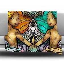 Mermaid Twins Throw Blanket