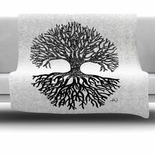 The Tree Of Life by Adriana De Leon Fleece Throw Blanket