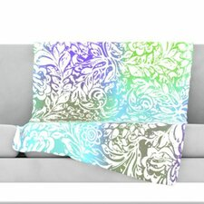Blue Bloom Softly for You Fleece Throw Blanket