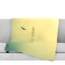 Let's Fly Away Fleece Throw Blanket