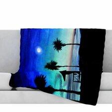 Carlsbad State Beach Fleece Throw Blanket