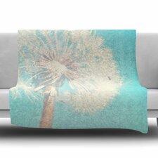 Dandelion by Sylvia Coomes Fleece Blanket