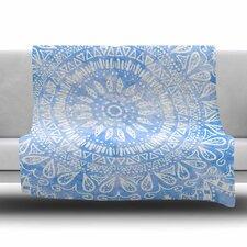 Boho Flower Mandala by Nika Martinez Fleece Blanket