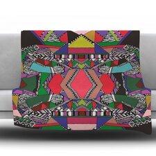 African Motif Fleece Throw Blanket