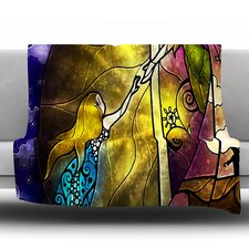 Fairy Tale Off To Neverland Throw Blanket