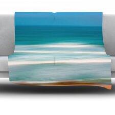 Sun and Sea by Ann Barnes Fleece Throw Blanket