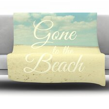 Gone To The Beach by Alison Coxon Fleece Throw Blanket