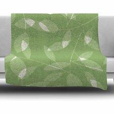 Leaf Tawny by Alison Coxon Fleece Throw Blanket