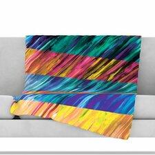 Set Stripes I Fleece Throw Blanket