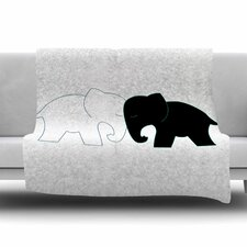 Elephant Love by NL Designs Fleece Blanket