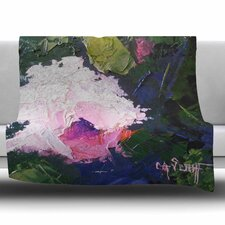 Textured Pink Rose by Carol Schiff Fleece Blanket