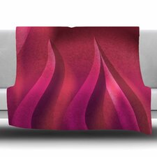 Petals in Pink by Fotios Pavlopoulos Fleece Blanket