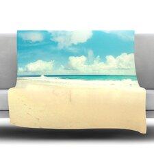 Beach Time Fleece Throw Blanket