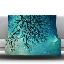 Winter Moon Fleece Throw Blanket