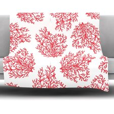 Coral by Anchobee Fleece Throw Blanket