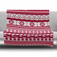 Fairisle Christmas Pattern by Noonday Design Fleece Blanket