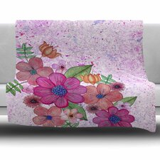 My Garden in Pink by Julia Grifol Fleece Blanket