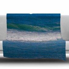 Solana Beach Rolling Waves Fleece Throw Blanket