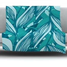 Algae by Anchobee Fleece Throw Blanket