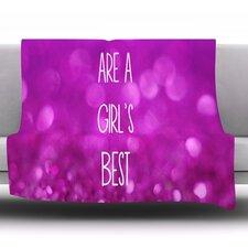 Sparkles Are A Girls Best Friend by Beth Engel Fleece Throw Blanket