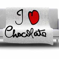 I Love Chocolate by Gabriela Fuente Fleece Blanket