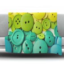 Cute As A Button Throw Blanket