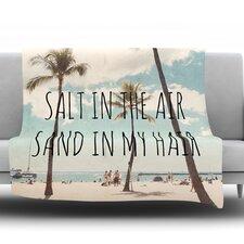 Salt in The Air Throw Blanket