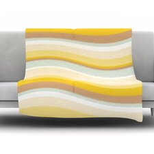 Desert Waves Fleece Throw Blanket