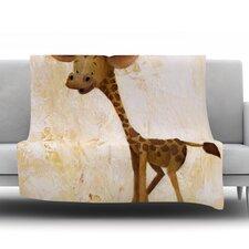 Georgey The Giraffe Throw Blanket
