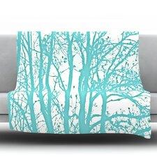 Mint Trees Throw Blanket