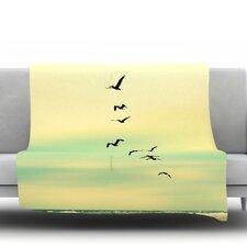 Across The Endless Sea Throw Blanket