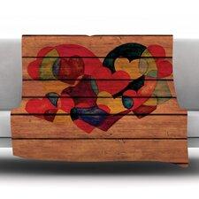 Wooden Heart Throw Blanket